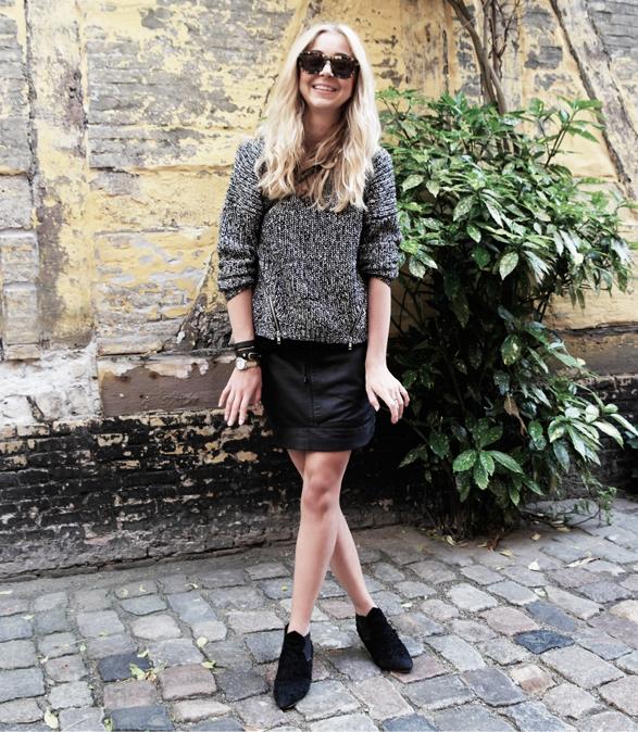 wearemad acne alma mango leather skirt divided knit 40f12ced8e